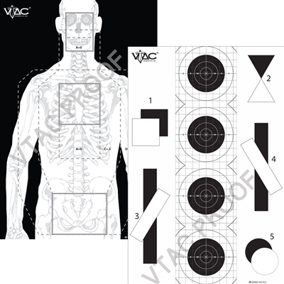 VTAC Double Sided Tactical Target- Paper (50)